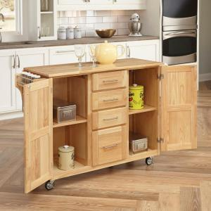 +5. Home Styles Natural Kitchen Cart ...