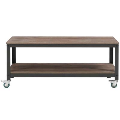 Vivify Gray Walnut Tiered Serving or TV Stand