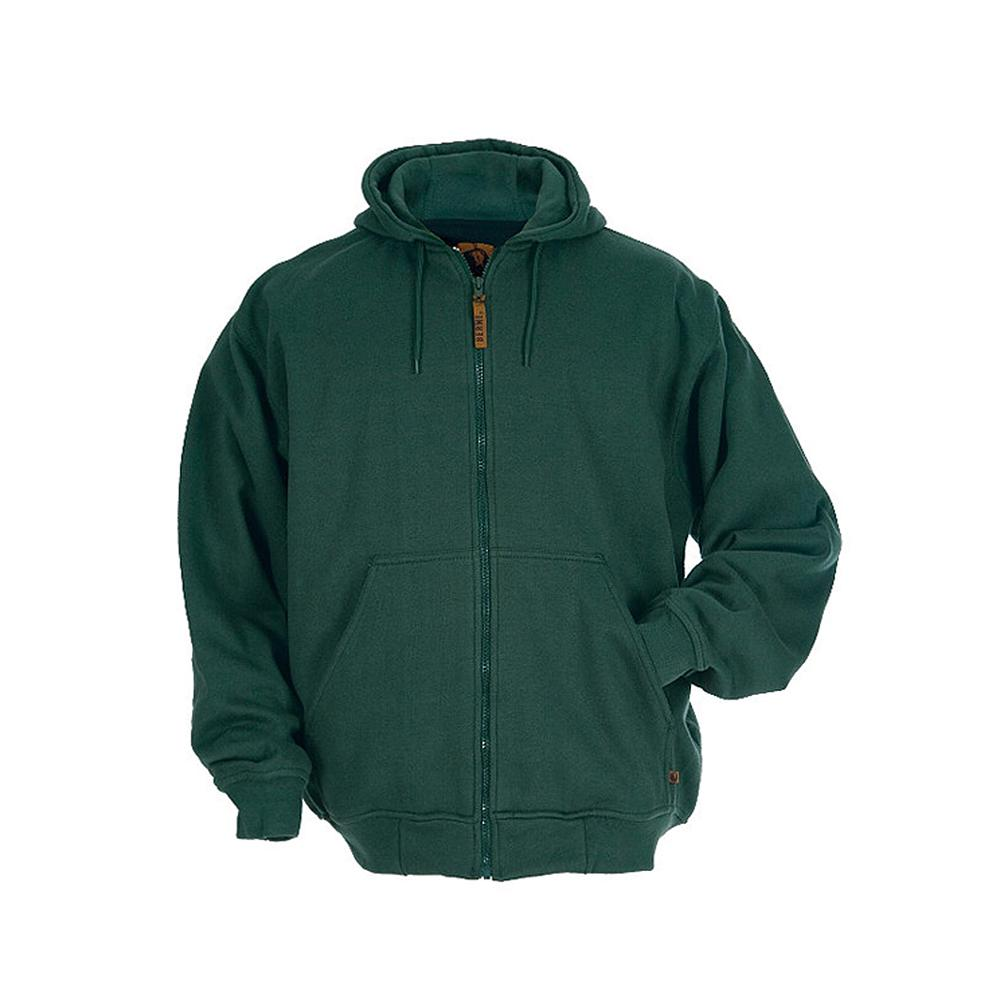 Berne Men s 4 XL Regular Green 100% Polyester Original Hooded Sweatshirt a997635de176