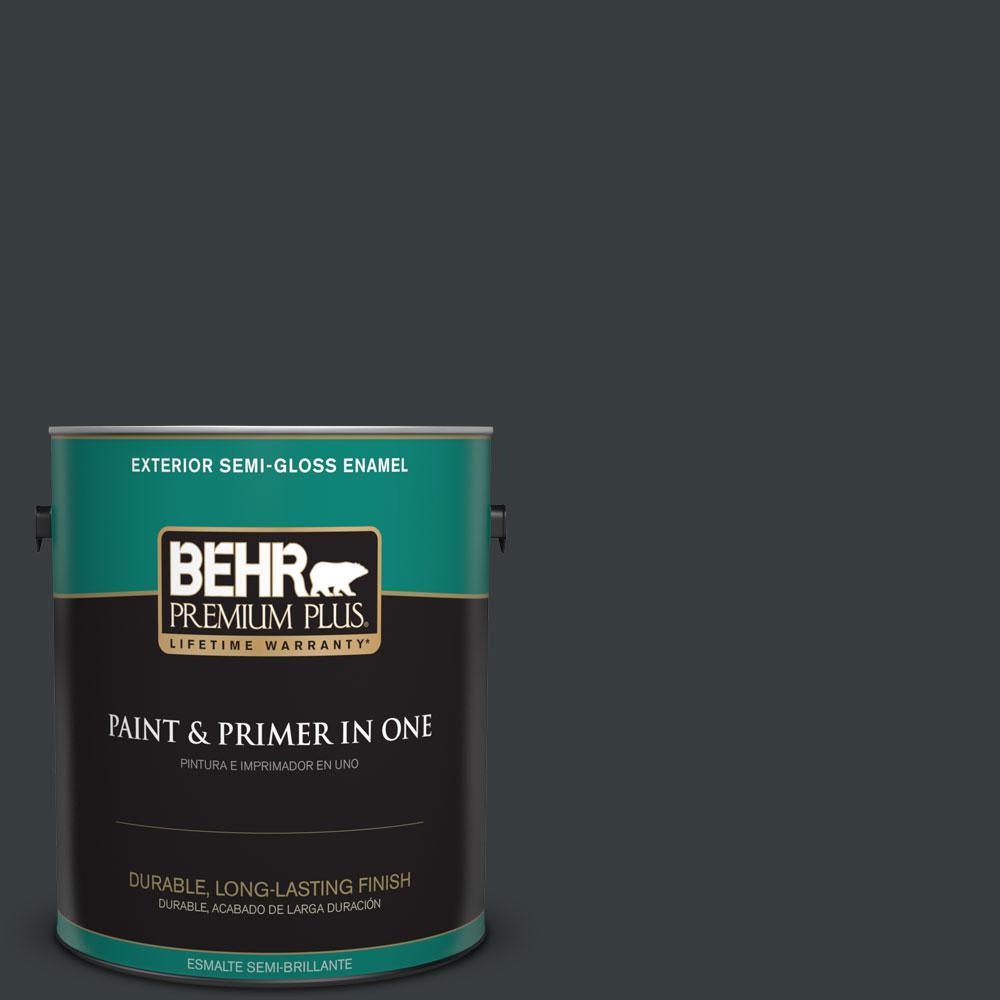 1-gal. #750F-7 Deep Space Semi-Gloss Enamel Exterior Paint