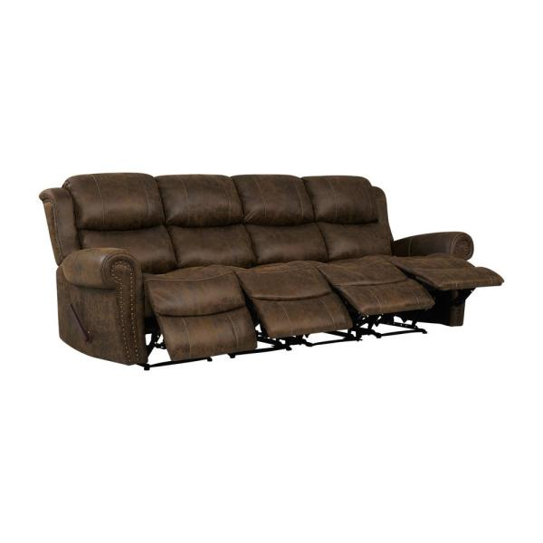 Prolounger Distressed Saddle Brown Faux