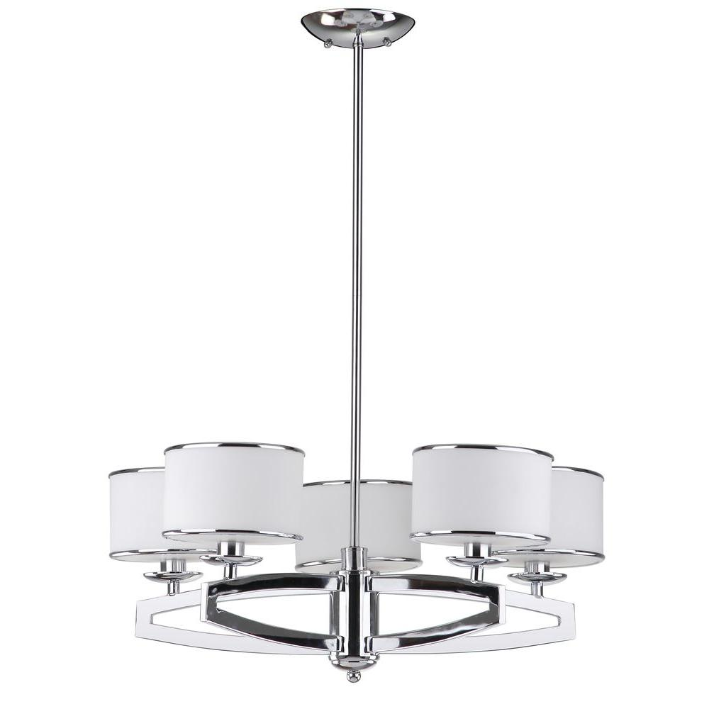 Safavieh lenora drum 5 light chrome pendant chandelier with etched safavieh lenora drum 5 light chrome pendant chandelier with etched white shade arubaitofo Image collections