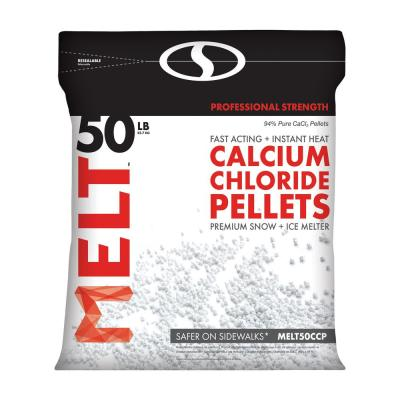 Melt 50 lb. Resealable Bag Calcium Chloride Pellets Ice Melter