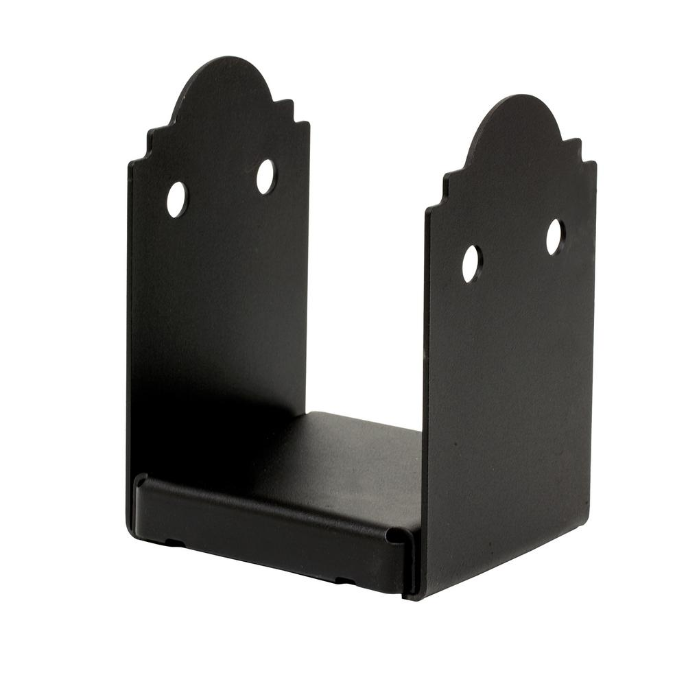 Simpson Strong-Tie Outdoor Accents Mission Collection ZMAX, Black Powder-Coated Post Base for 6x6 Nominal Lumber