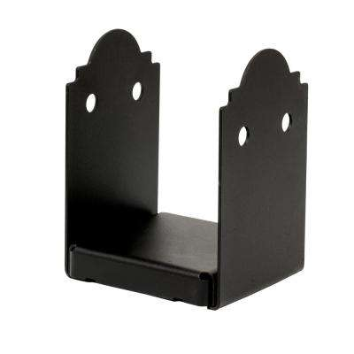 Outdoor Accents Mission Collection ZMAX, Black Powder-Coated Post Base for 6x6 Nominal Lumber