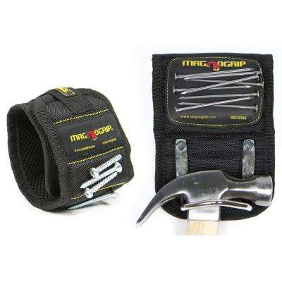 Magnetic Wristband and Magnetic Hammer Holster Set (2-Pack)