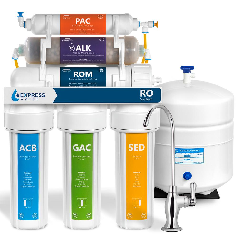 Alkaline Under Sink Reverse Osmosis Water Filtration System - 10 Stage