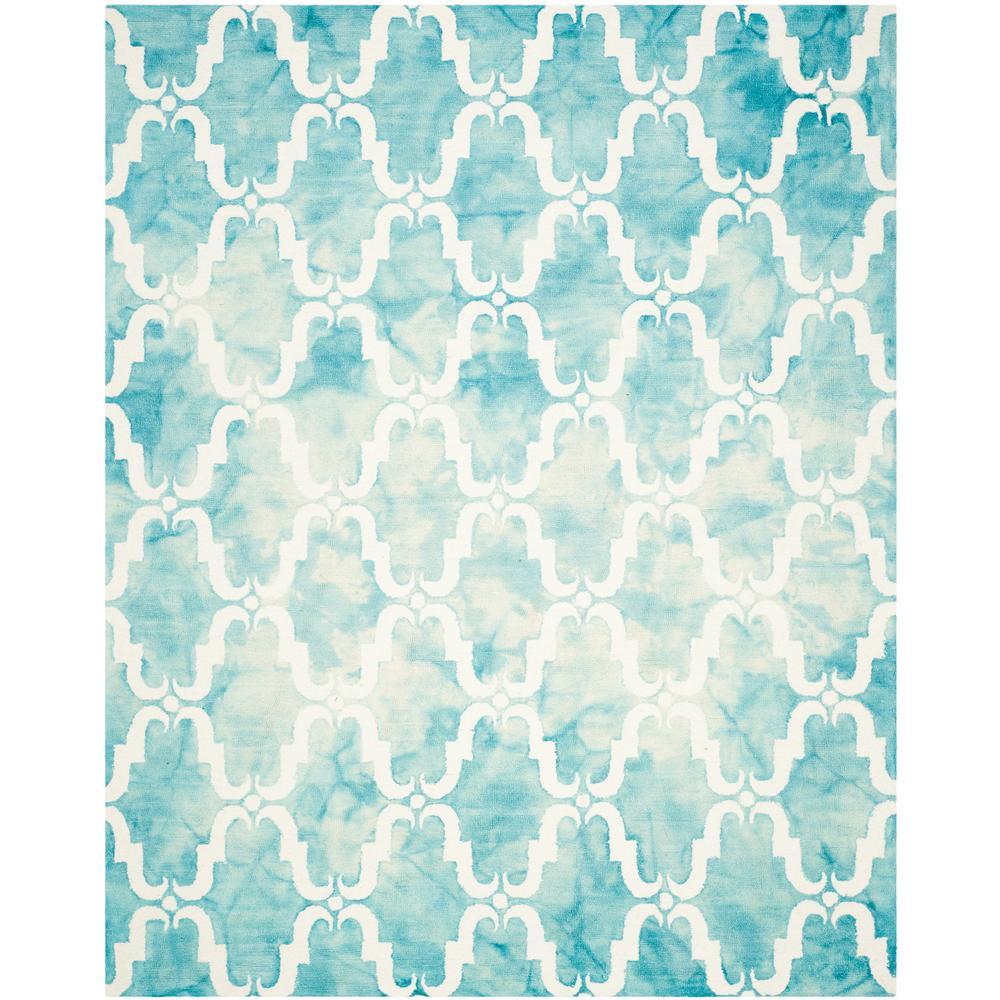 Safavieh Dip Dye Gray Turquoise Area Rug Reviews: Safavieh Dip Dye Turquoise/Ivory 9 Ft. X 12 Ft. Area Rug