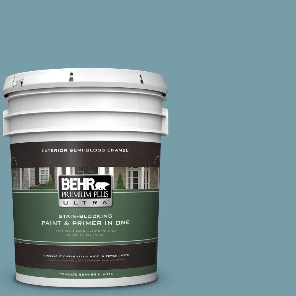 BEHR Premium Plus Ultra 5-gal. #PPU13-7 Voyage Semi-Gloss Enamel Exterior Paint