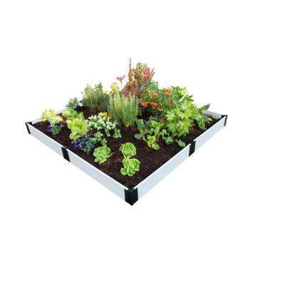 8 ft. x 8 ft. x 8 in. White Composite Raised Garden Bed Kit