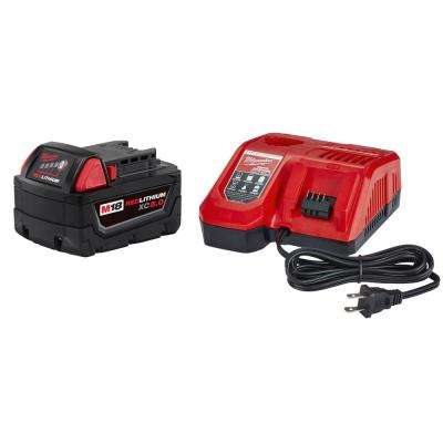 M18 18-Volt Lithium-Ion XC Starter Kit with One 5.0 Ah Battery and Rapid Charger