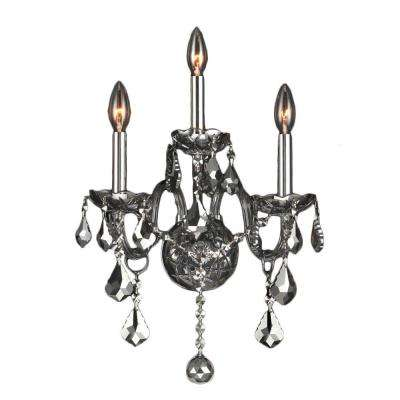 Provence 3-Light Chrome Sconce with Crystals