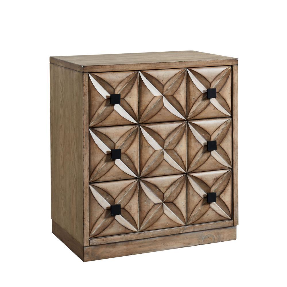 Furniture Of America Ambara Weathered Light Oak Hallway Cabinet With  3 Drawers