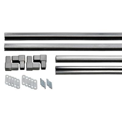 3 ft. Galvanized Powder-Coated Steel Charcoal C-Channel Frame Kit
