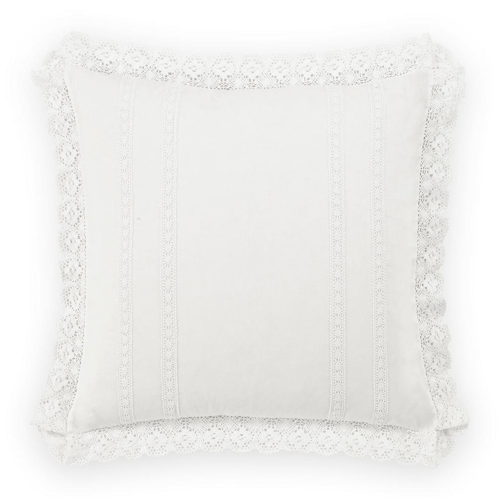 Annabella White Euro Pillow Cover (Set of 2)