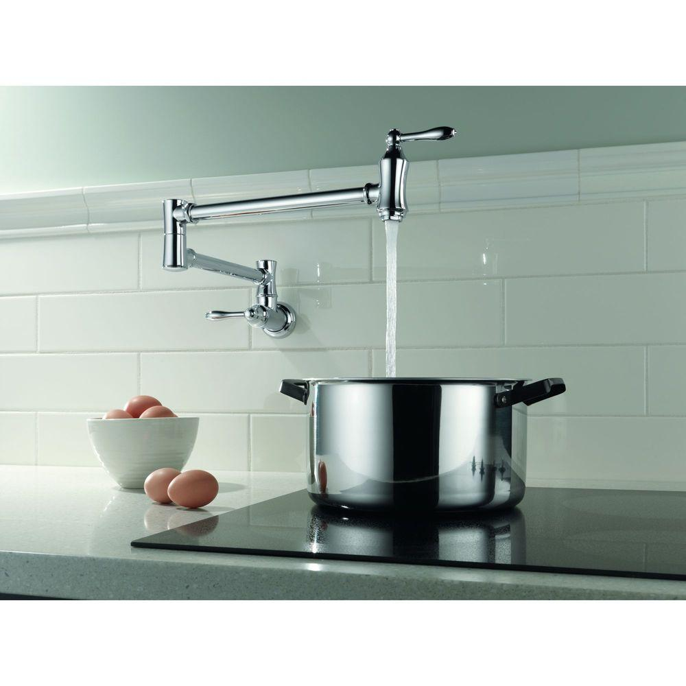 Delta Traditional Wall-Mounted Potfiller in Chrome