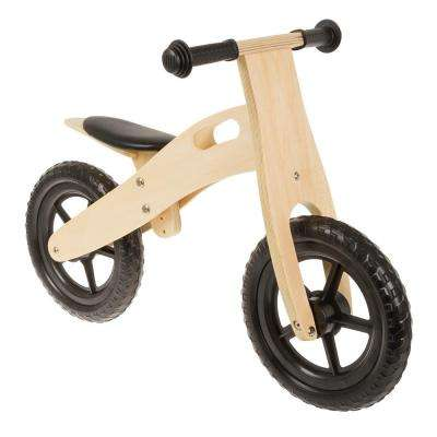 Ultra-light 12 Black Wooden Running/Balance Bike