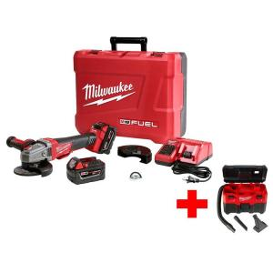 Milwaukee M18 FUEL 18-Volt Lithium-Ion Brushless Cordless 4-1/2 in./5 inch Braking Grinder Kit with Free M18... by Milwaukee