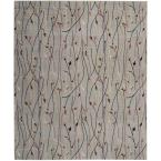 Grafix Grey 8 ft. x 10 ft. Floral Contemporary Area Rug