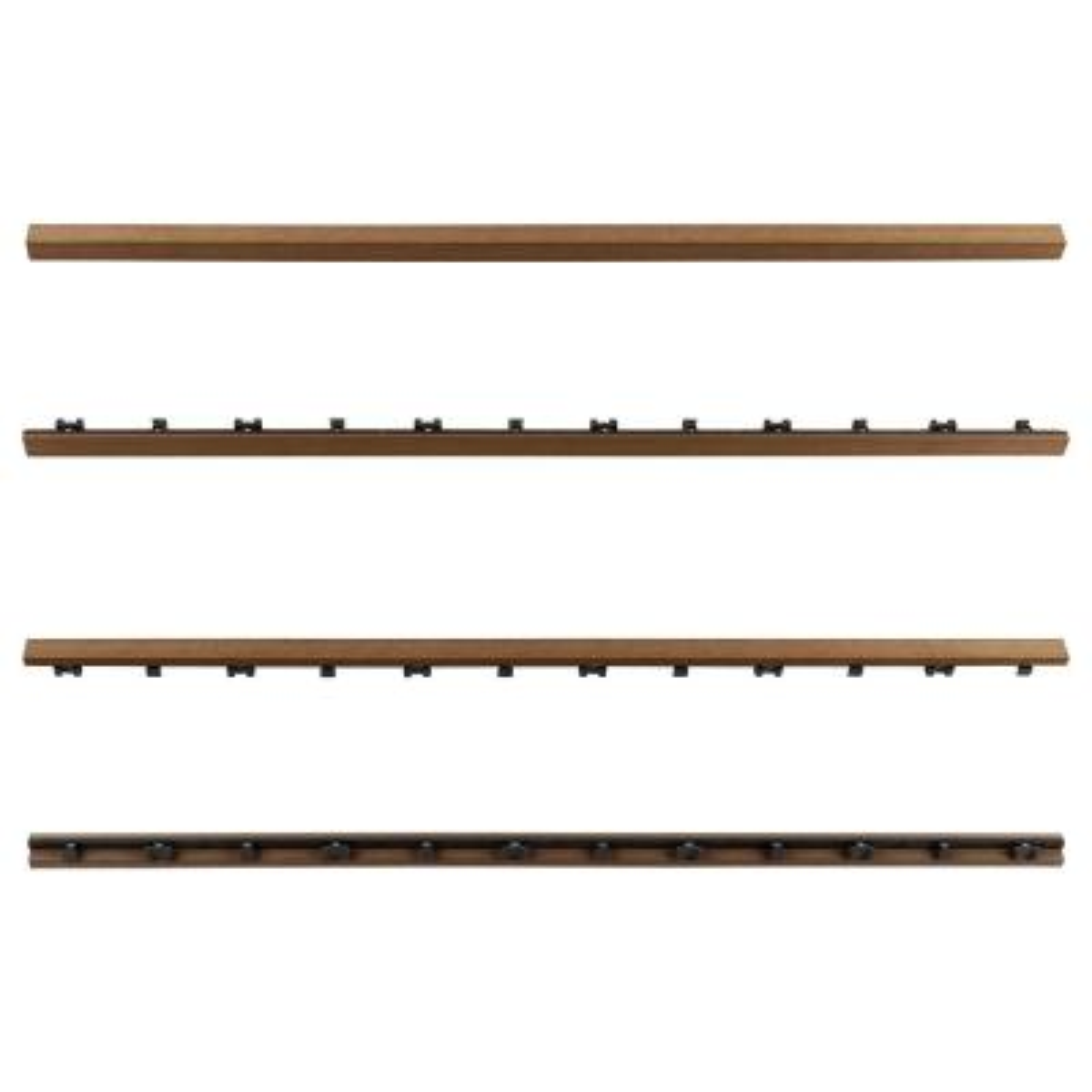 1/12 ft. x 3 ft. Quick Deck Composite Deck Tile Straight Trim in Peruvian Teak (2-Pieces/Box)