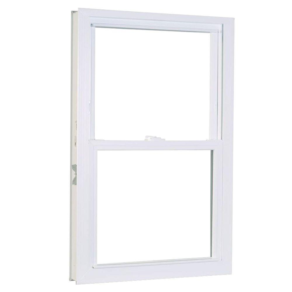 American Craftsman 27.75 in. x 53.25 in. 50 Series Double Hung White ...
