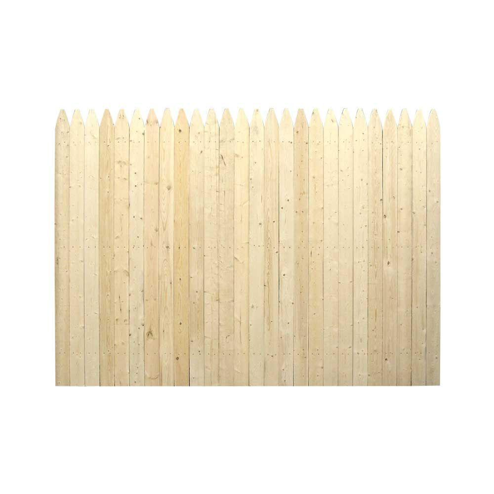 6 ft. H x 8 ft. W 4 in. Moulded Stockade