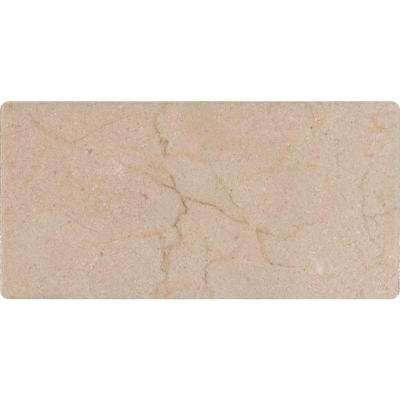Crema Marfil 3 in. x 6 in. Honed/Beveled Marble Floor and Wall Tile (1 sq. ft. / case)