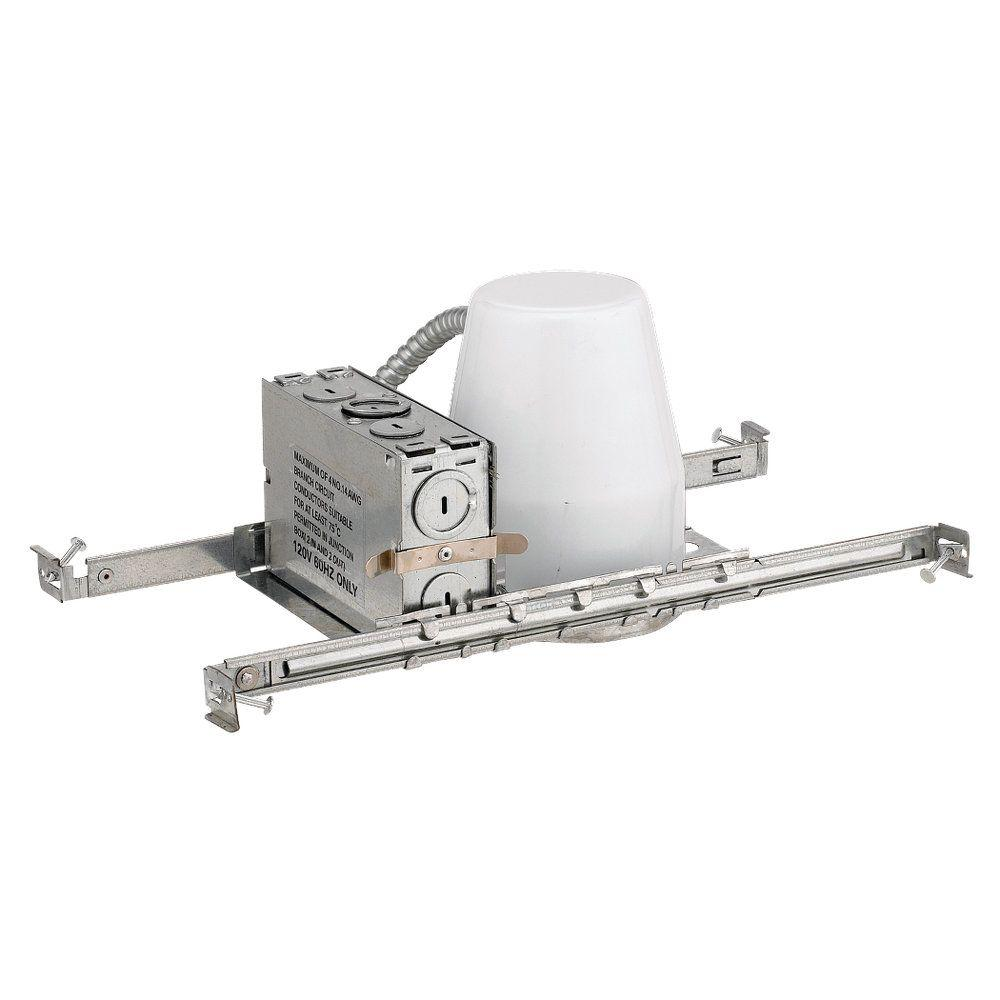 null 4 in. Metallic Recessed Metal New Construction Non-IC Housing Kit