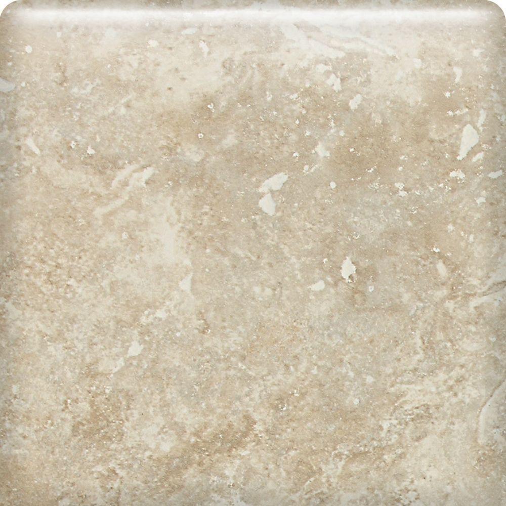 Heathland White Rock 6 in. x 6 in. Glazed Ceramic Bullnose