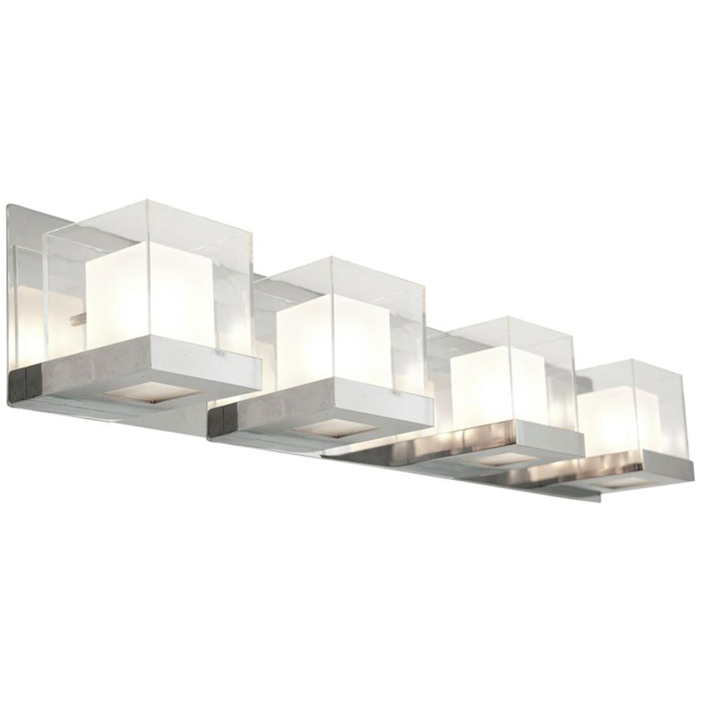 Filament Design FInland 4-Light Chrome Bath Vanity Light