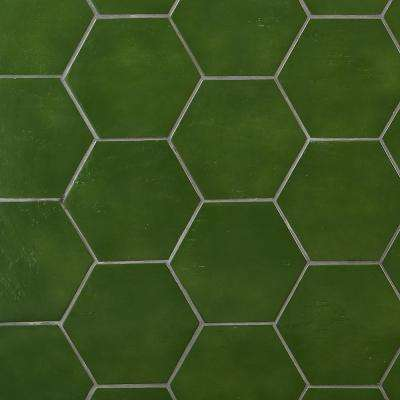 Appaloosa Moss Hexagon 7 in. x 8 in. Porcelain Floor and Wall Tile (10.76 sq. ft./Case)