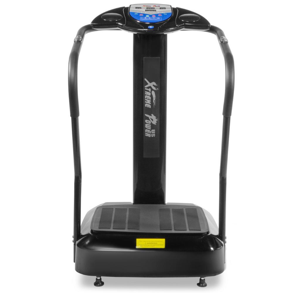 XtremepowerUS Xtreme Crazy Fit Massage Full-Body Vibration Platform Exercise Fitness Machine in Black
