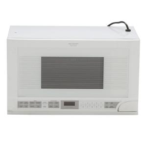 Sharp 1 5 Cu Ft Over The Counter Microwave In White With Sensor Cooking R1211ty Home Depot