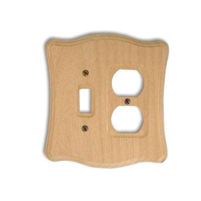 1 Toggle 1 Duplex Wall Plate - Un-Finished Wood