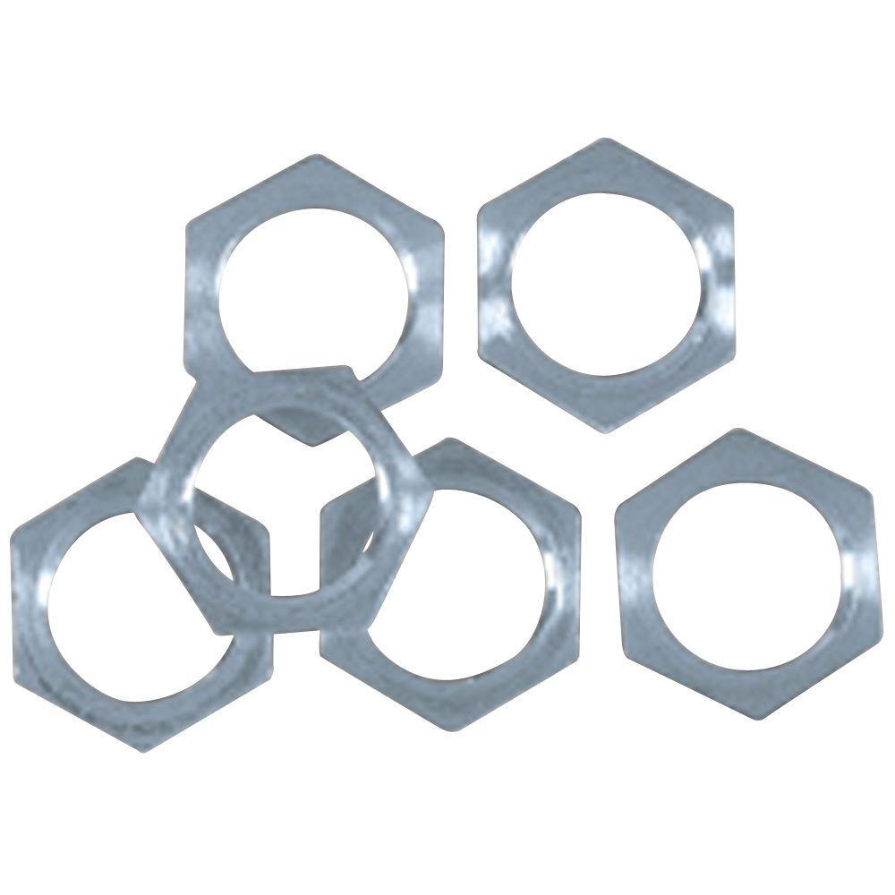 Steel Hex Nuts (6-Piece)