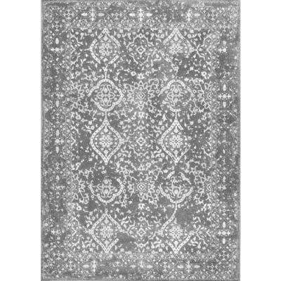 Vintage Odell Silver 5 ft. 3 in. x 7 ft. 9 in. Area Rug