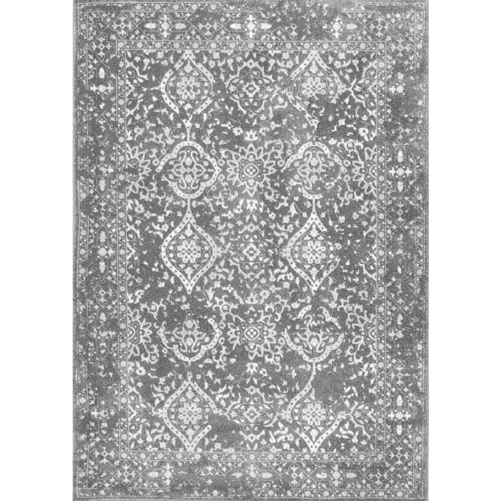 Nuloom Black And White Rug: NuLOOM Vintage Odell Silver 9 Ft. X 12 Ft. Area Rug