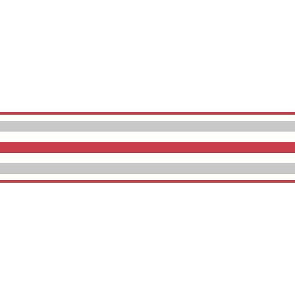 Brewster Multicolor Stripe Peel And Stick Wallpaper Border