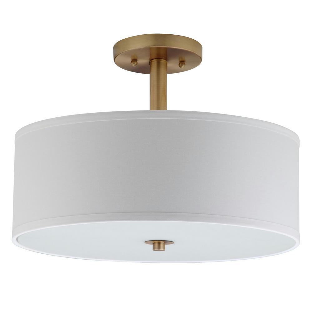 Clara 16 in. 3-Light Chrome Semi-Flush Mount Light