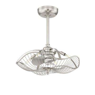 Auri 22.25 in. Indoor Brushed Nickel Ceiling Fan with Light and Remote Control
