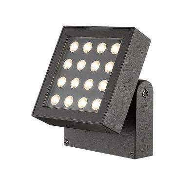 Bravo Collection 16-Light Graphite Grey Outdoor LED Surface Mount