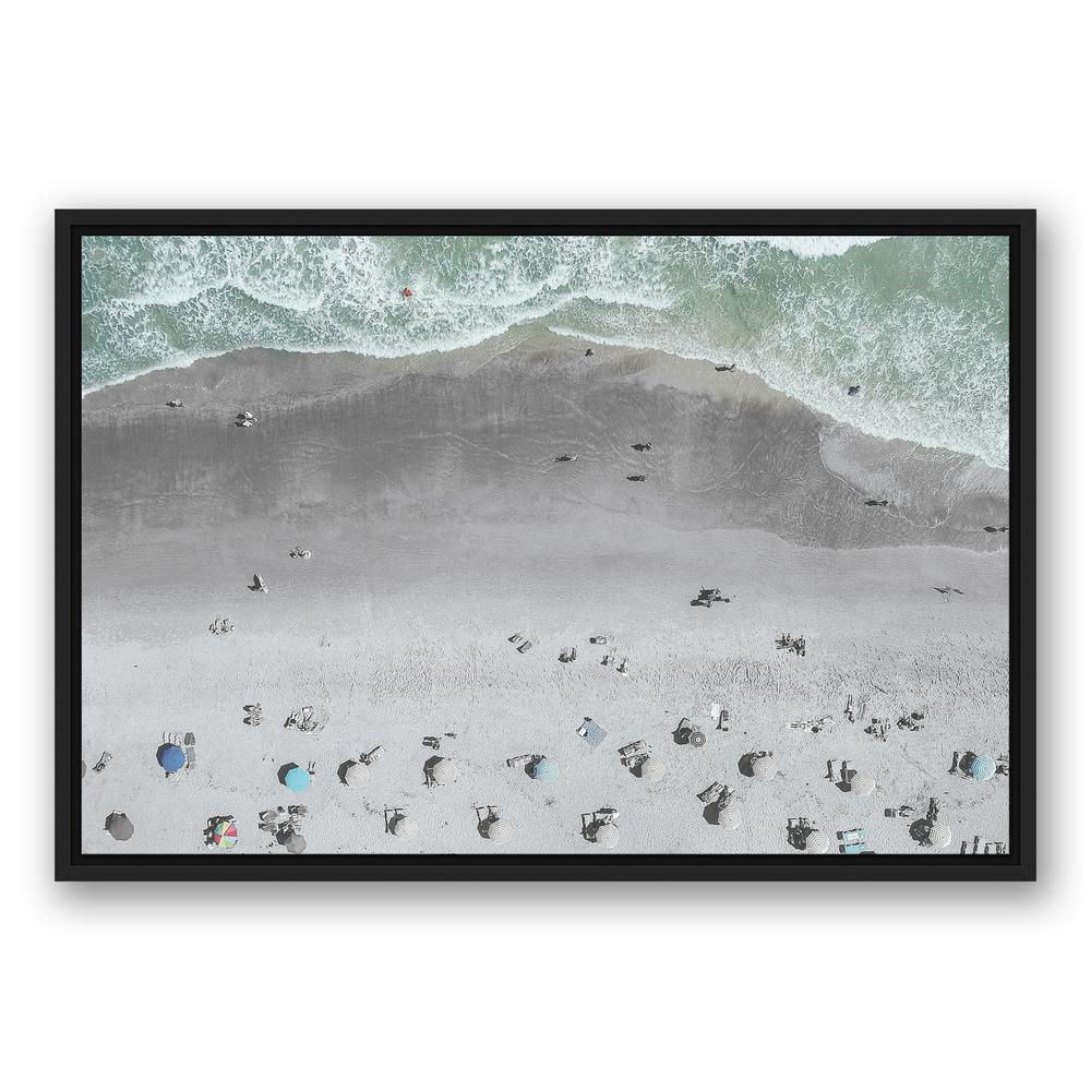 DESIGNS DIRECT 20 in. x 30 in. \'\'Aerial Beach Photo\'\' Printed Framed ...