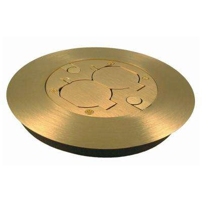 Round Non-Metallic Floor Box Cover Kit