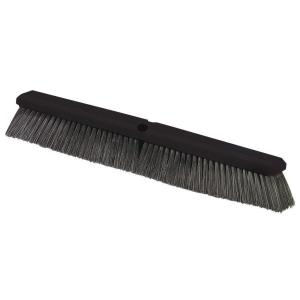 Carlisle 24 inch Polypropylene Bristled Fine/Medium Sweep Broom Bristle in Black (12-Case) by Carlisle