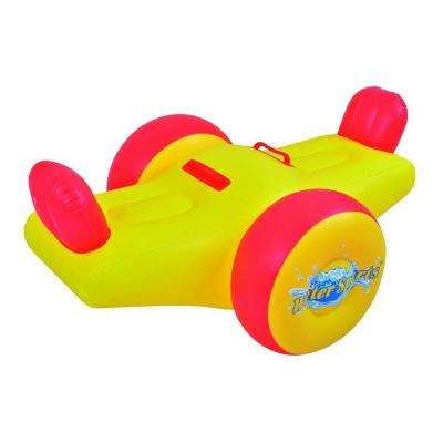 57 in. Yellow and Red Children's Inflatable Seesaw Pool Float