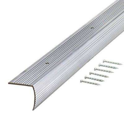Silver Fluted 36 in. Stair Edging