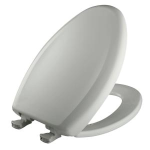 Bemis Slow Close STA-TITE Elongated Closed Front Toilet Seat in Ice Gray by BEMIS
