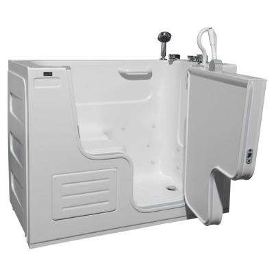 HydroLife Deluxe 4.25 ft. Right Drain Walk-In Heated Air Bath Tub in White