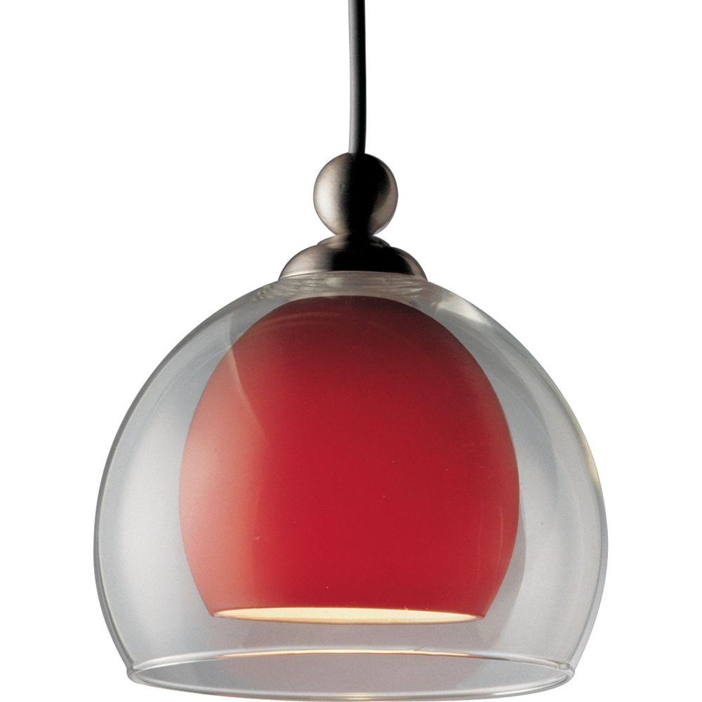 Progress Lighting Illuma-Flex Collection Brushed Nickel 1-light Pendant-DISCONTINUED