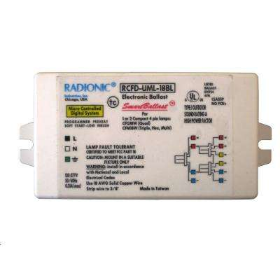 18-Watt Universal Voltage High Power Factor Electronic Ballast for CFL Lamp